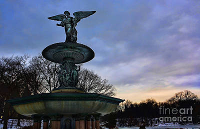 Sunrise At Bethesda - Angel Of The Waters Art Print by Lee Dos Santos