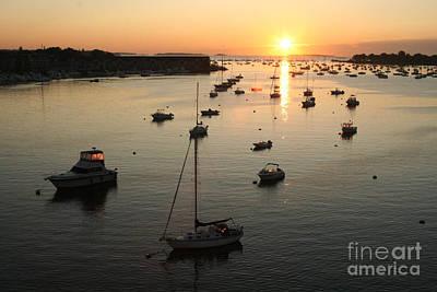 Sunrise At Beverly Massachusetts  Harbor Art Print by Steve  Gass