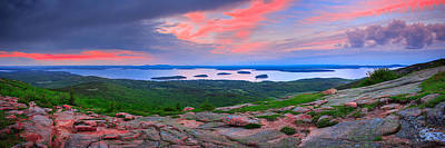 Photograph - Sunrise At  Cadillac Pano  by Emmanuel Panagiotakis