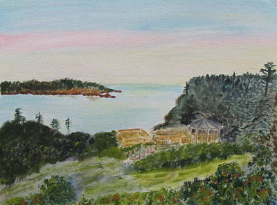 Painting - Sunrise At Chance Harbor by Linda Feinberg