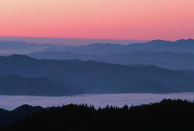 Sunrise At Clingmans Dome, Great Smoky Art Print