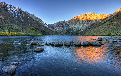 Sunrise At Convict Lake Art Print