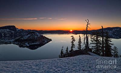 Photograph - Sunrise At Crater Lake II by Stuart Gordon