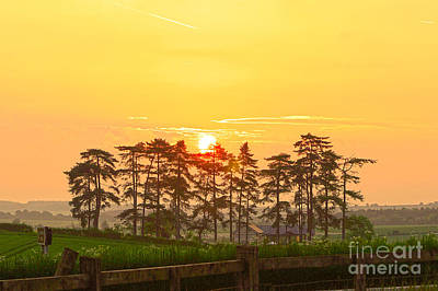 Digital Art - Sunrise At Danebury Hillfort by Andrew Middleton