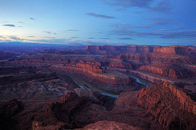 Photograph - Sunrise At Dead Horse Point-2 by Alan Vance Ley
