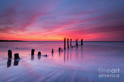 Sunrise At Deal Nj Art Print by Michael Ver Sprill