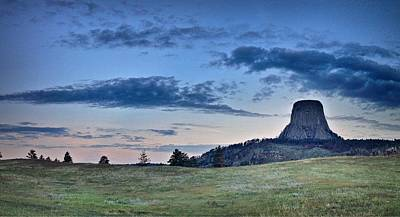 Photograph - Sunrise At Devils Tower In Wyoming by Victoria Porter