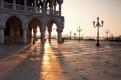 Photograph - Sunrise At Ducal Palace In Venice, Italy by Matteo Colombo