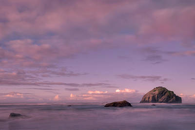 Oregon Photograph - Sunrise At Face Rock by Dan Mihai