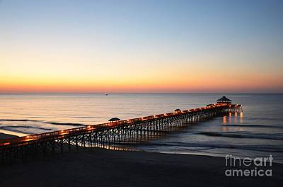 Photograph - Sunrise At Folly Beach by Mel Steinhauer