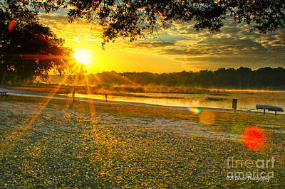 Photograph - Sunrise At Ft Cooper State Park by Barbara Bowen