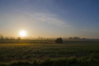 Sunrise At Gettysburg National Park Art Print