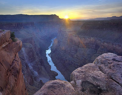 Sunrise At Grand Canyon National Park Art Print by Tim Fitzharris