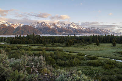 Photograph - Sunrise At Grand Teton by Brian Harig