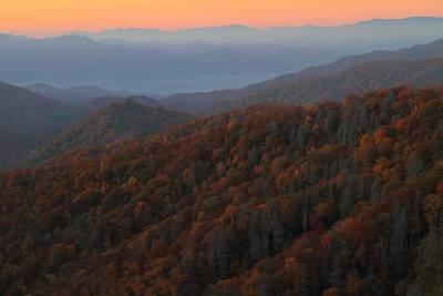 Photograph - Sunrise At Great Smokey Mountains National Park by Jetson Nguyen