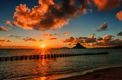 Sunrise At Hawaii Chainaman's Hat Art Print
