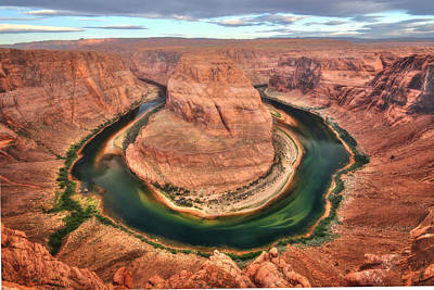 Grand Canyon Digital Art - Sunrise At Horseshoe  Bend by Lori Deiter