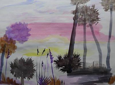 Painting - Sunrise At Hunting Island - Elements by Joel Deutsch