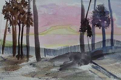Painting - Sunrise At Hunting Island - Sketch by Joel Deutsch