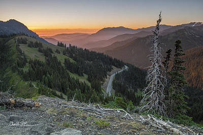Sunrise At Hurricane Ridge - Sunrise Peak Art Print by Charlie Duncan