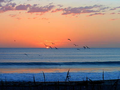 Art Print featuring the photograph Sunrise At Indialantic by Kay Gilley