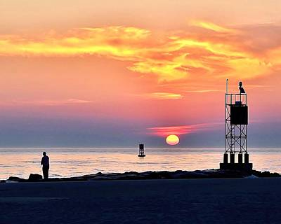 Bemis Photograph - Sunrise At Indian River Inlet by Kim Bemis