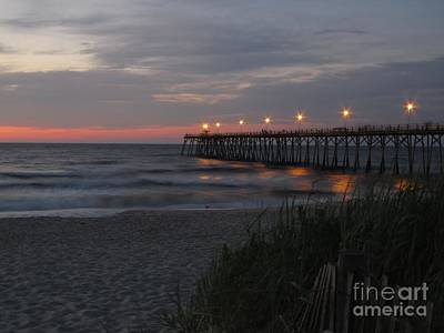 Photograph - Sunrise At Kure Pier by Jaclyn Hughes Fine Art