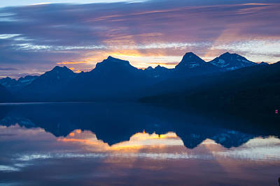 Photograph - Sunrise At Lake Macdonald Gnp by Michael Gooch