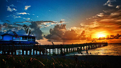 Photograph - Sunrise At Lake Worth Pier by Don Durfee