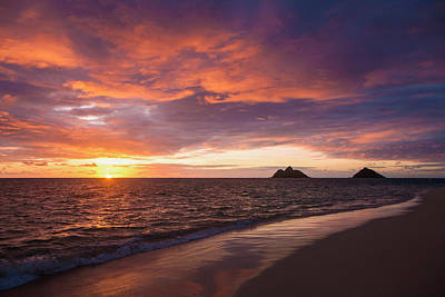 Sunrise At Lanikai Beach  Kailua Art Print by Tomas del Amo