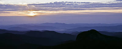 Photograph - Sunrise At Looking Glass Rock by Craig T Burgwardt