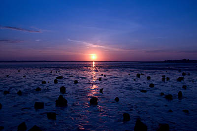 Photograph - Sunrise At Low Tide by Robert Bascelli