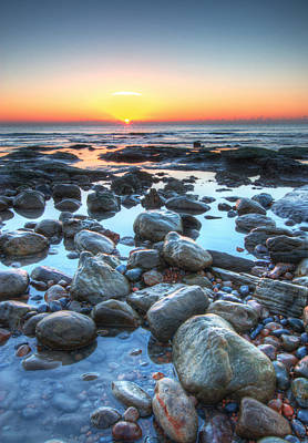 Sunrise At Low Tide Art Print