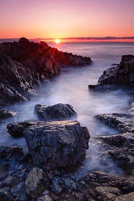 Sunrise At Marginal Way Art Print by Michael Blanchette