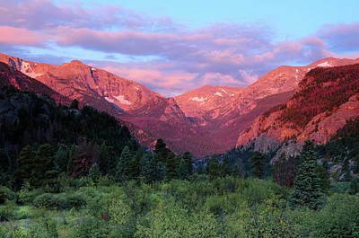 Sunrise At Moraine Park, Rocky Mountain Art Print