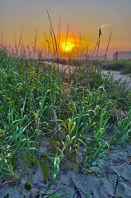 Art Print featuring the photograph Sunrise At Myrtle Beach by Alex Grichenko