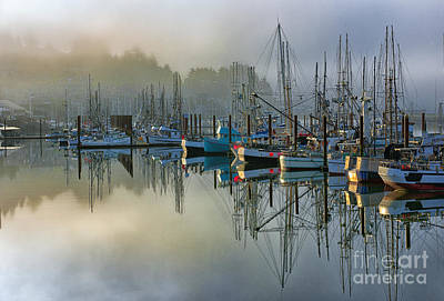 Photograph - Sunrise At Newport Harbor by Sandra Bronstein