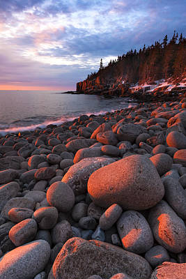 Sunrise At Otter Cliffs Art Print by Patrick Downey
