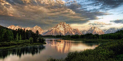 Photograph - Sunrise At Oxbow Bend 1 To 2 Ratio Pan by Ken Smith