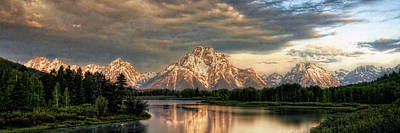 Photograph - Sunrise At Oxbow Bend 1 To 3 Ratio Pan by Ken Smith