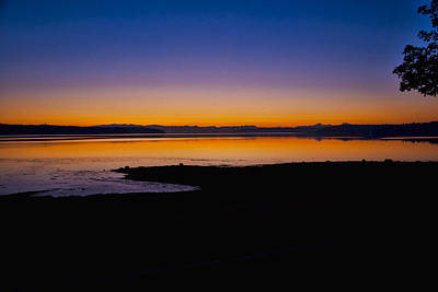 Photograph - Sunrise At Penn Cove by Ron Roberts
