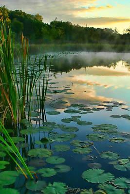 Sunrise At Pokagon State Park  Art Print