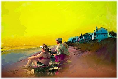 Sunrise At Ponte Vedras Art Print