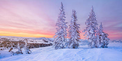 Sunrise At Powder Mountain Art Print by Rory Wallwork