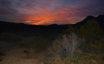 Photograph - Sunrise At Red Rock Canyon - Nevada by Glenn McCarthy