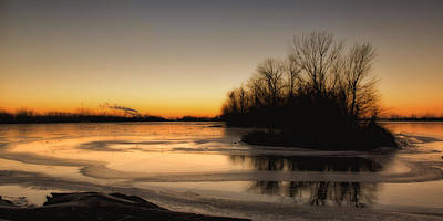 Photograph - Sunrise At Riverlands West Alton Mo by Greg Kluempers