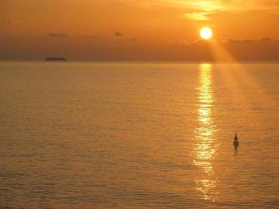 Sunrise At Sea Art Print by Photographic Arts And Design Studio