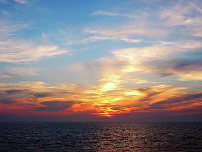 Sunrise At Sea Art Print by Susan Savad