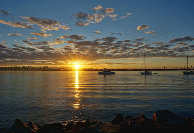 Photograph - Sunrise At Shelter Island by Jeremy McKay