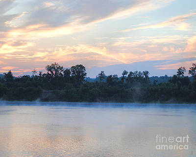 River Scenes Photograph - Sunrise At Shiloh II by Jai Johnson